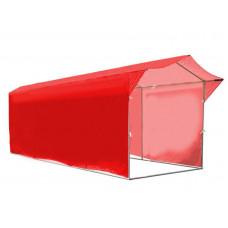 """Палатка для торговли и промоакций """"Трейд"""" с козырьком 2х6 м с полной запечаткой"""
