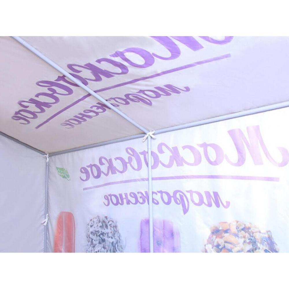 """Палатка для торговли и промоакций """"Трейд"""" (без козырька) 2х3 м с полной запечаткой"""